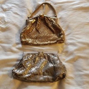 Two Vintage Whiting and Davis Clutches